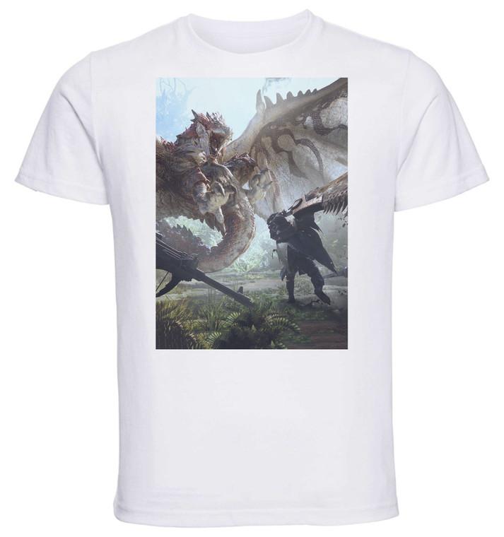 T-shirt Unisex - White - Monster Hunter