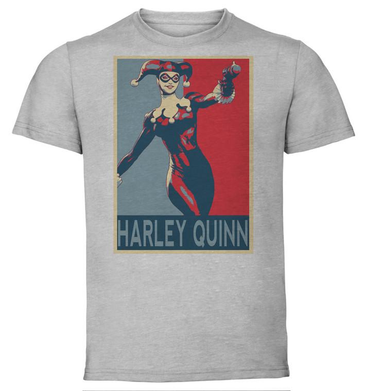 T-Shirt Unisex - Grey - Propaganda - Dc Universe - Harley Quinn