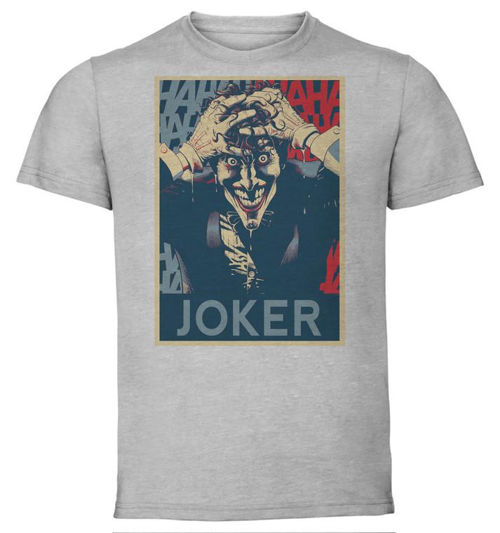 T-Shirt Unisex - Grey - Propaganda - Dc Universe - Joker