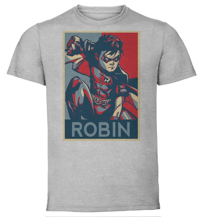 T-Shirt Unisex - Grey - Propaganda - Dc Universe - Robin