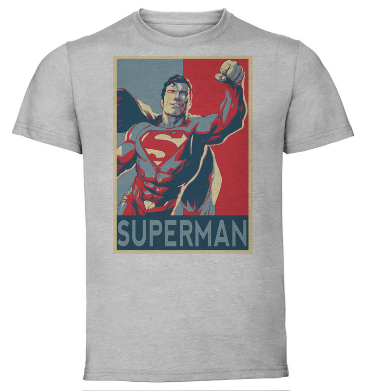 T-Shirt Unisex - Grey - Propaganda - Dc Universe - Superman