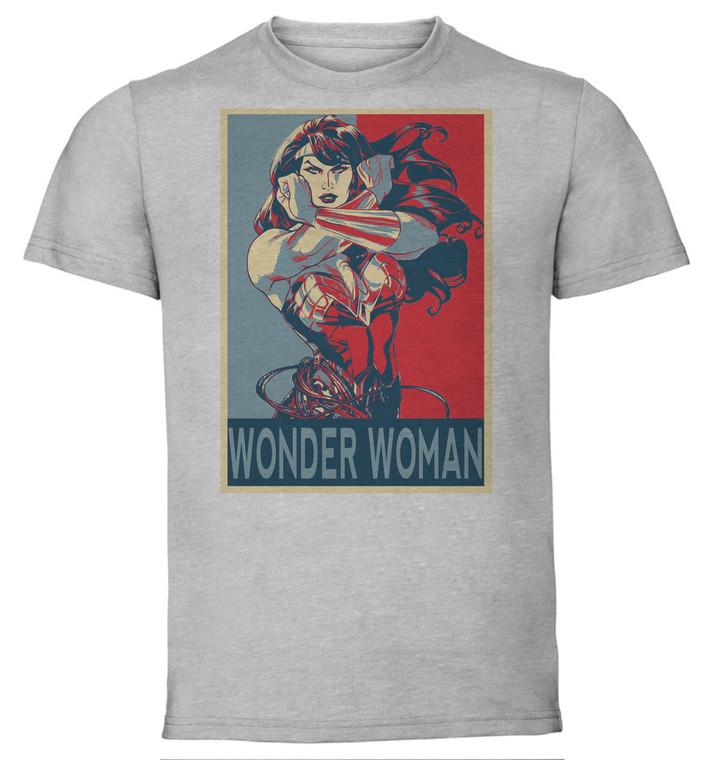 T-Shirt Unisex - Grey - Propaganda - Dc Universe - Wonder Woman