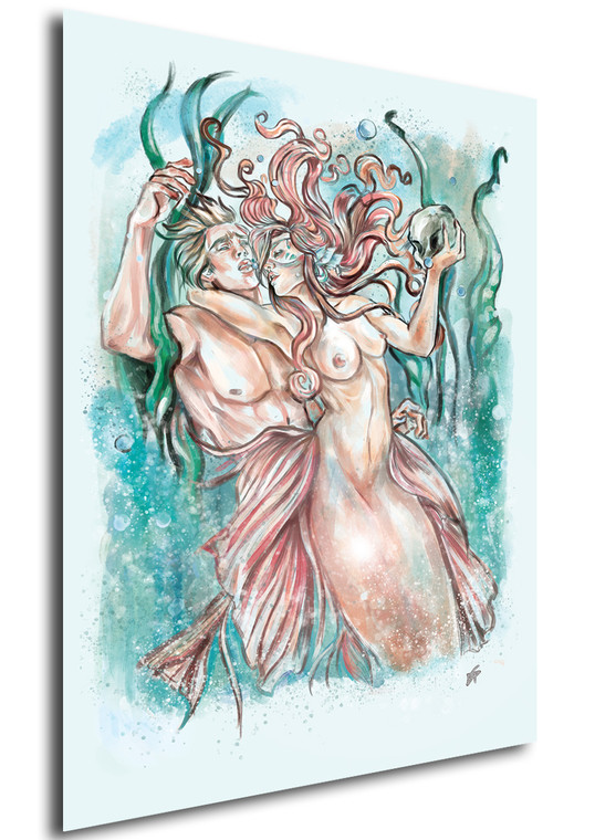 Poster - Art by Giusy Nicosia - Mermaid - Song of Death - Color Version
