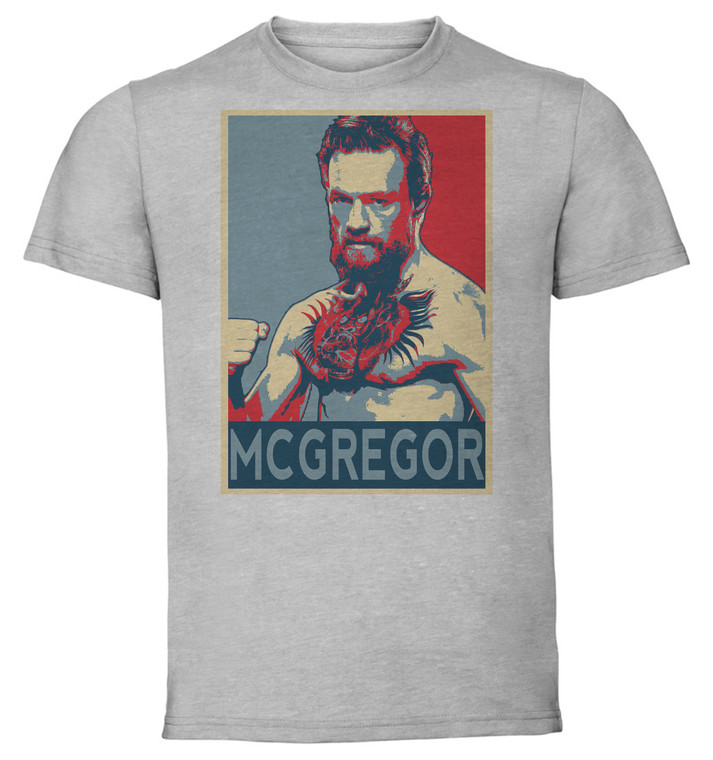 T-Shirt Unisex - Grey - Propaganda - Mma - Mcgregor