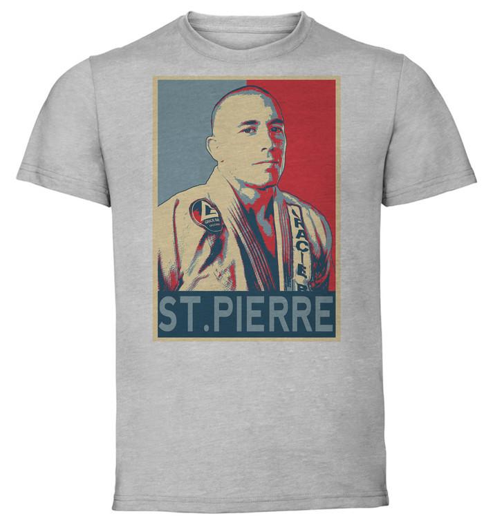 T-Shirt Unisex - Grey - Propaganda - Mma - St Pierre