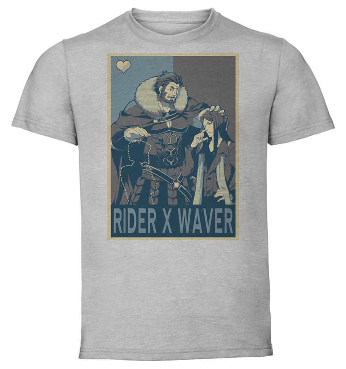 T-Shirt Unisex - Grey - Propaganda Yaoi - Fate Grand Order - Rider X Waver