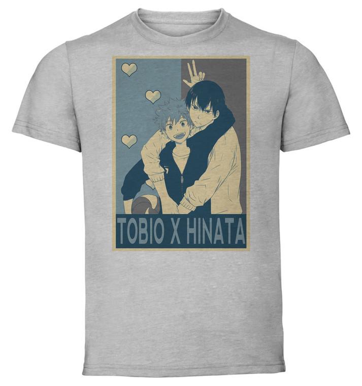 T-Shirt Unisex - Grey - Propaganda Yaoi - Haikyu - Tobio X Hinata