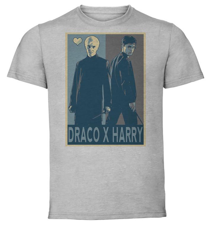 T-Shirt Unisex - Grey - Propaganda Yaoi - Harry Potter Draco X Harry