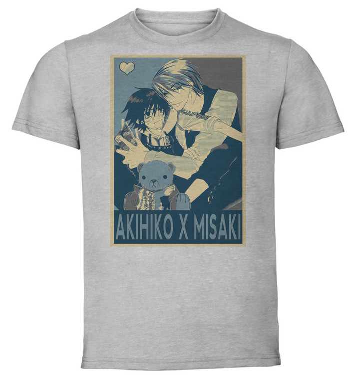 T-Shirt Unisex - Grey - Propaganda Yaoi - Junjo Romantica - Akihiko X Misaki