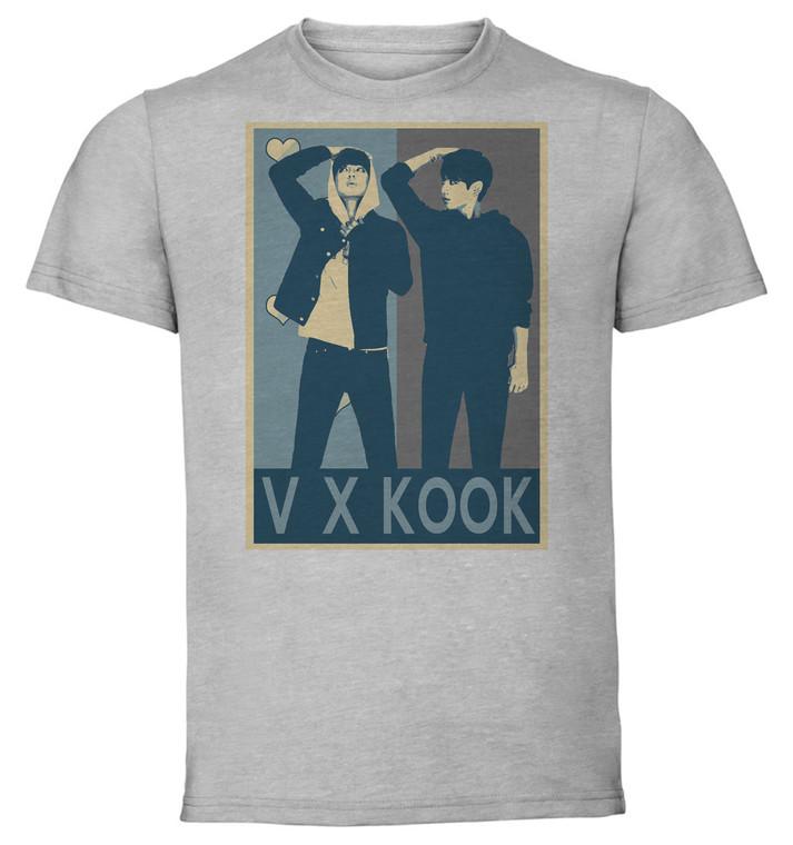 T-Shirt Unisex - Grey - Propaganda Yaoi - Kpop - Bts - V X Kook