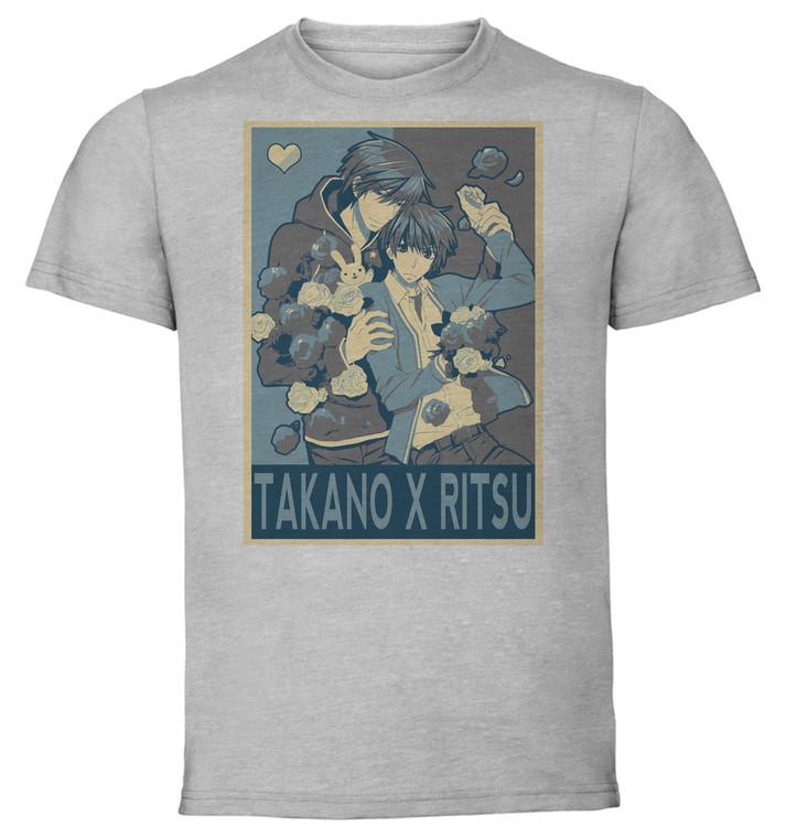 T-Shirt Unisex - Grey - Propaganda Yaoi - Sekaichi Hatsukoi - Takano X Ritsu