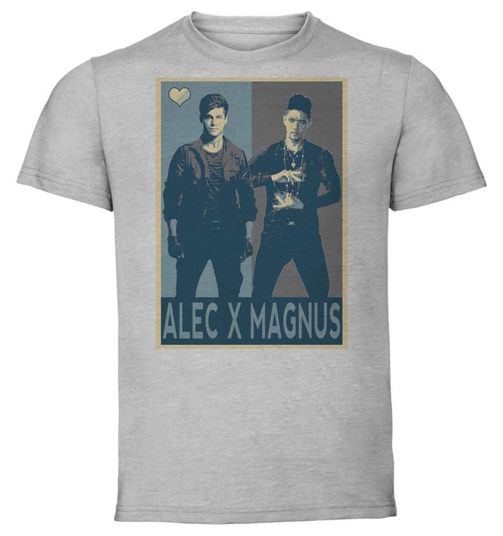 T-Shirt Unisex - Grey - Propaganda Yaoi - Shadowhunters Alec X Magnus