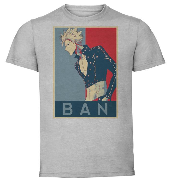 T-Shirt Unisex - Grey - Propaganda - Seven Deadly Sins Ban V3