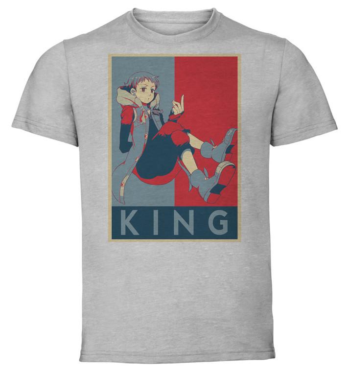 T-Shirt Unisex - Grey - Propaganda - Seven Deadly Sins King V3