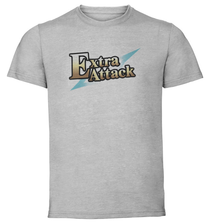 T-Shirt Unisex - Grey - Fate Grand Order - Command Card - Extra Attack
