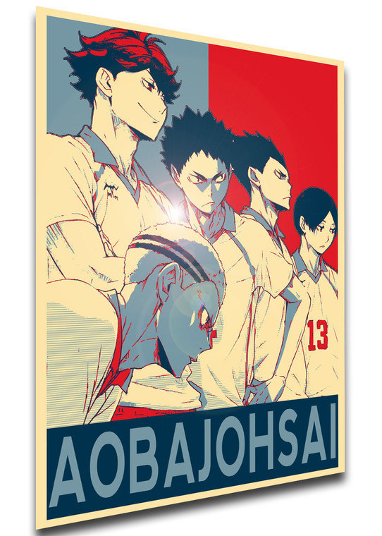 Poster - SA0373 - Propaganda - Haikyuu - Aobajohsai Team - Characters