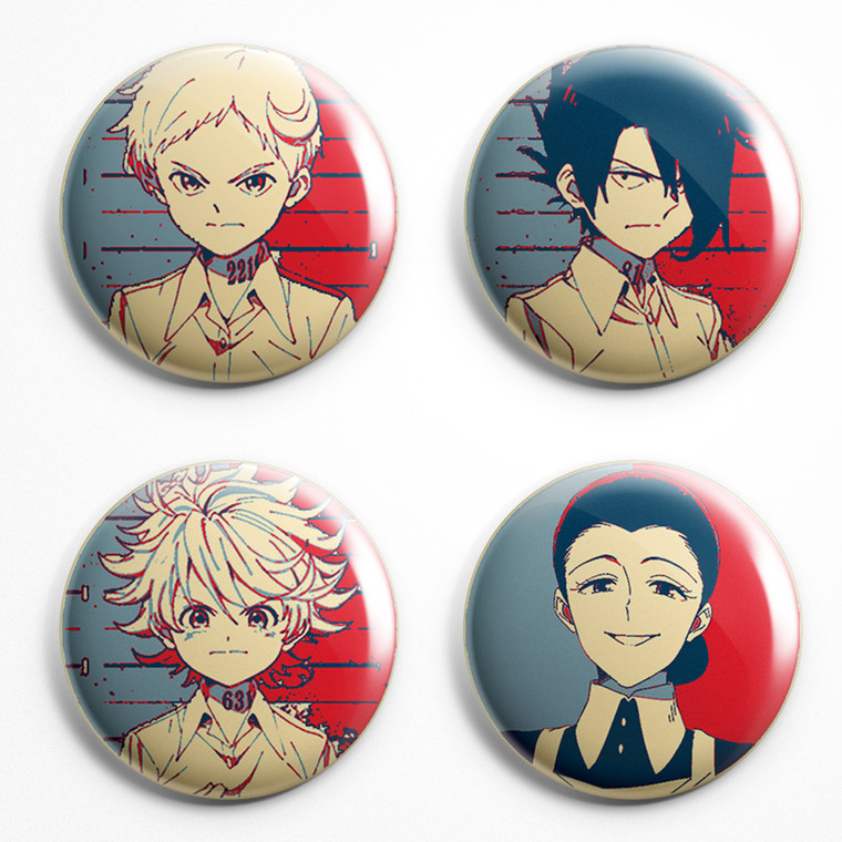 Spille Propaganda - Pins Badges - Promised Neverland Various Characters