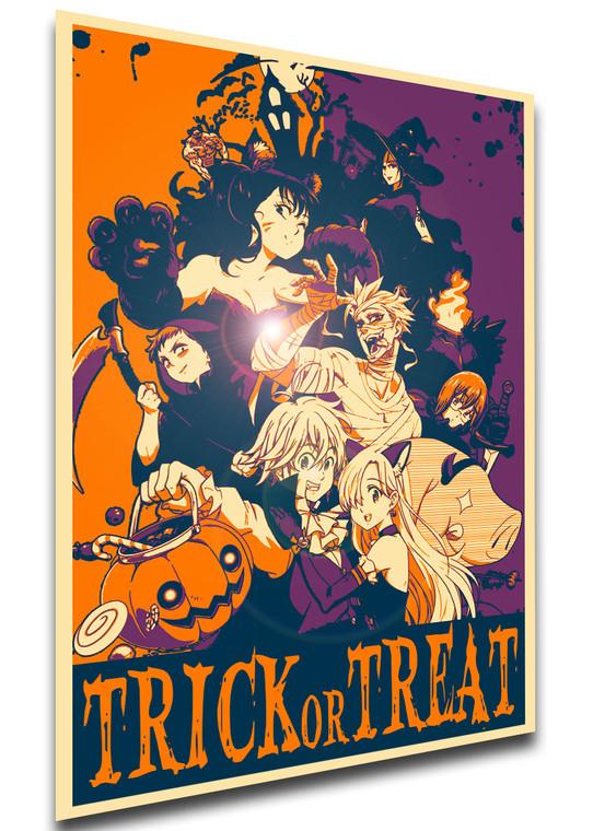 Poster - Propaganda Halloween - Trick or Treat - Seven Deadly Sins - Characters SA0570