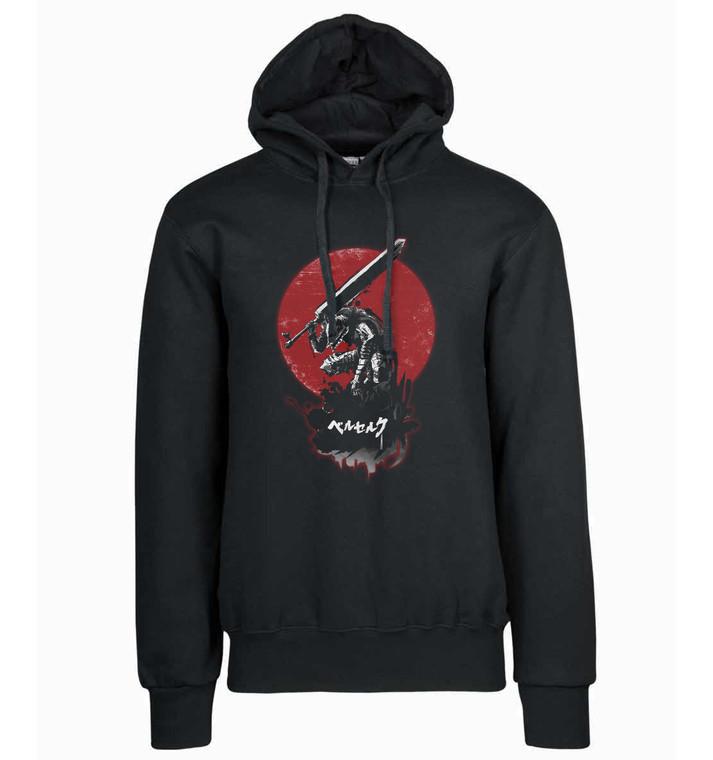 T-Shirt Hoodie Tank Top Black - Red Sun - Berserk - Guts