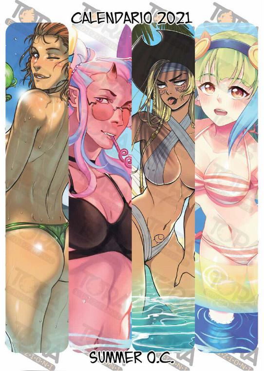 TORA EDIZIONI Calendario Original Characters 2021 - Summer Edition