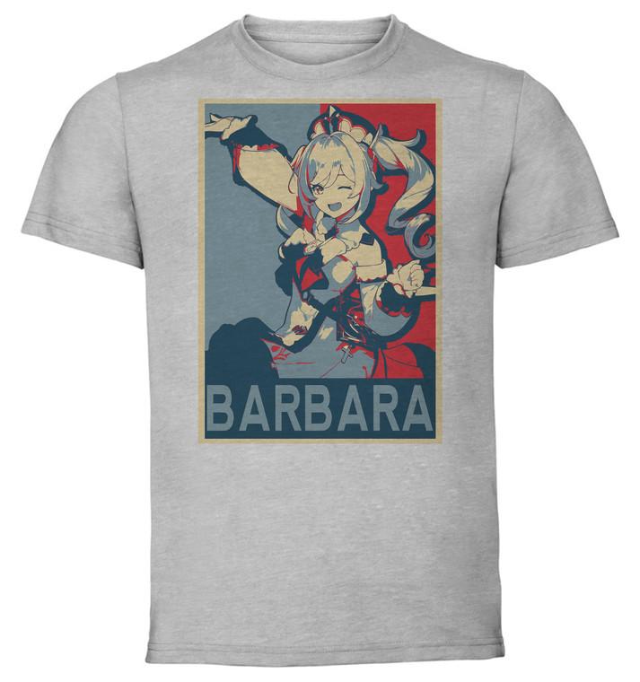 T-Shirt Unisex Grey - Propaganda - Genshin Impact - Barbara SA0584