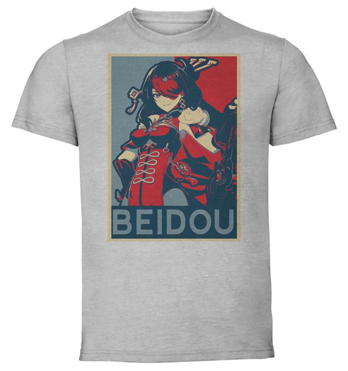 T-Shirt Unisex Grey - Propaganda - Genshin Impact - Beidou SA0585