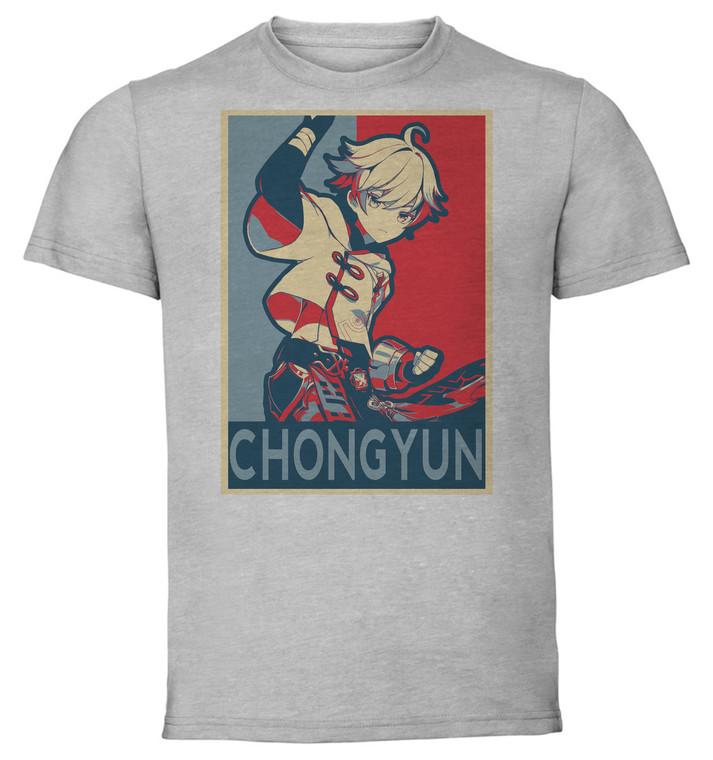 T-Shirt Unisex Grey - Propaganda - Genshin Impact - CHONGYUN SA0587