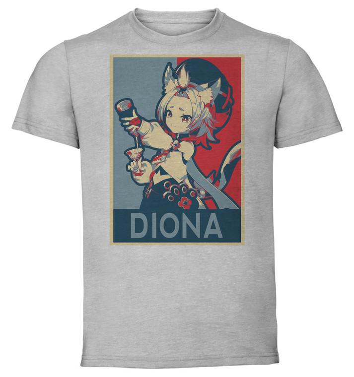 T-Shirt Unisex Grey - Propaganda - Genshin Impact - Diona SA0645
