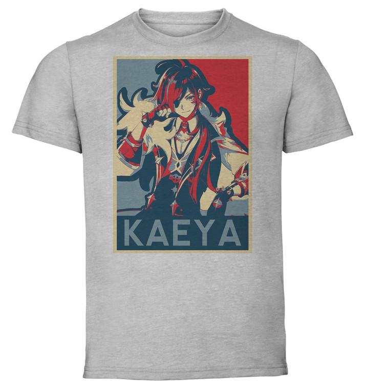 T-Shirt Unisex Grey - Propaganda - Genshin Impact - Kaeya SA0591