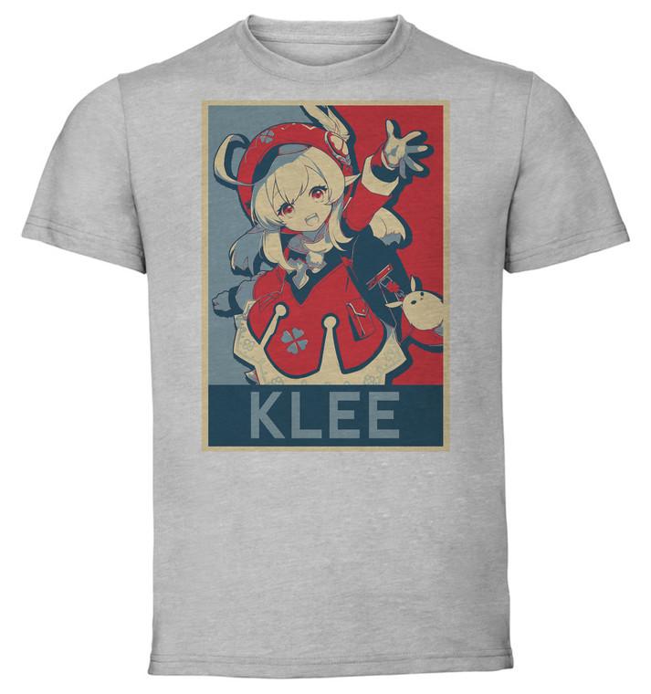 T-Shirt Unisex Grey - Propaganda - Genshin Impact - Klee SA0630