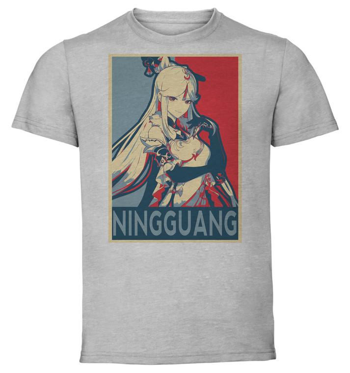 T-Shirt Unisex Grey - Propaganda - Genshin Impact - Ningguang SA0595