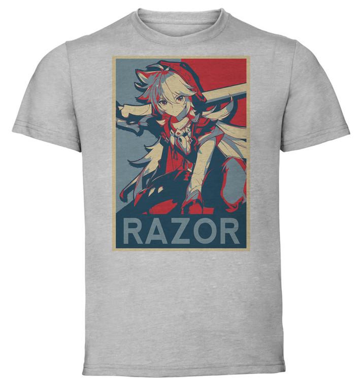 T-Shirt Unisex Grey - Propaganda - Genshin Impact - Razor SA0599