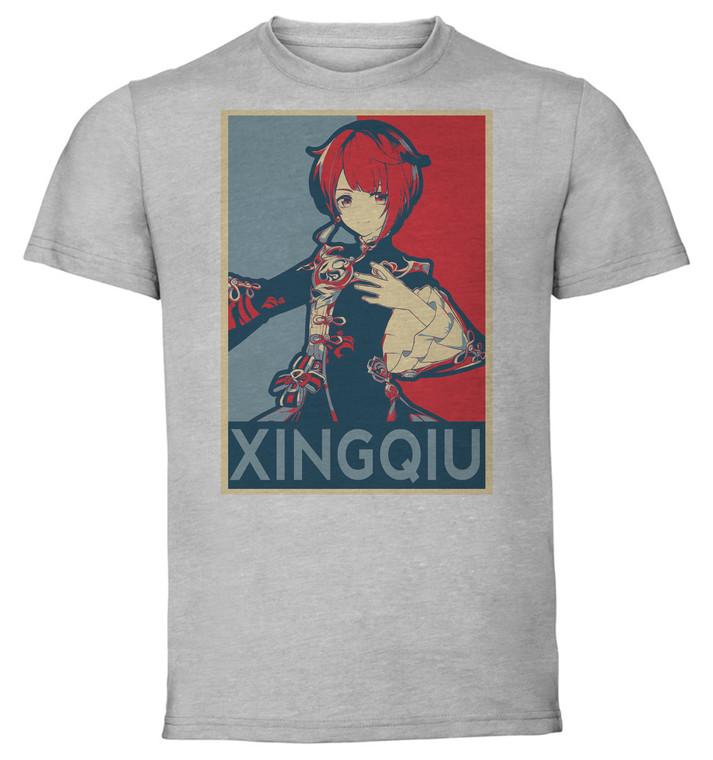 T-Shirt Unisex Grey - Propaganda - Genshin Impact - Xingqiu SA0605