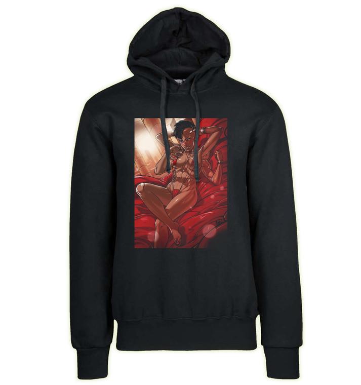 Hoodie Black Grey - Ganassa - Mortal Kombat Sheeva