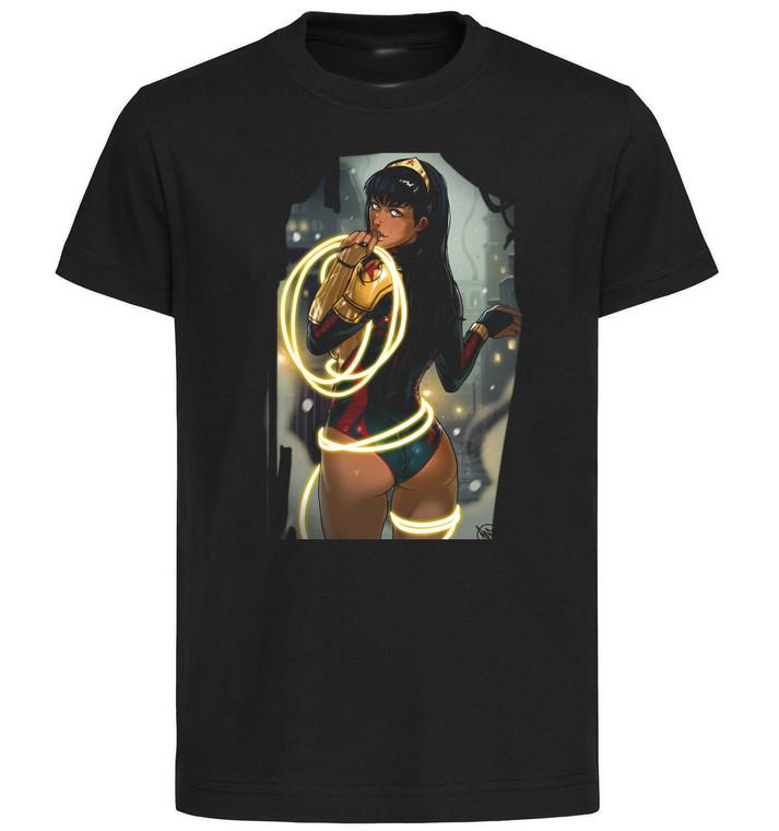 T-Shirt Black Grey White - Ganassa Wonder Woman Yara Flor