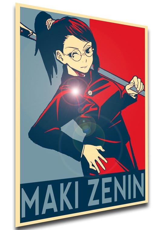 Poster Propaganda - Jujutsu Kaisen - Maki Zenin - SA0771