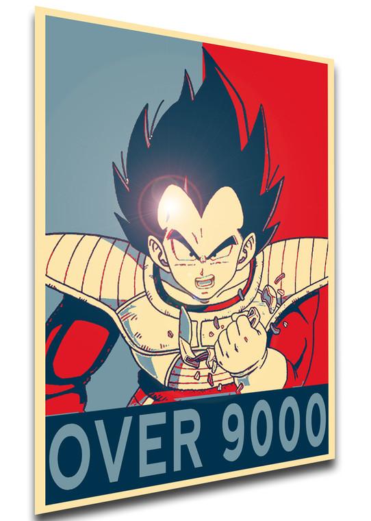 Poster Propaganda - Meme - It's Over 9000 - Vegeta - LL1269
