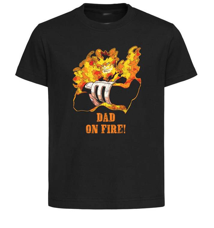 T-Shirt Black Grey White - Father's Day - My Hero Academia - Dad on Fire