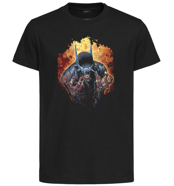 T-Shirt Black Grey - Dark Knight Death Metal - Joker