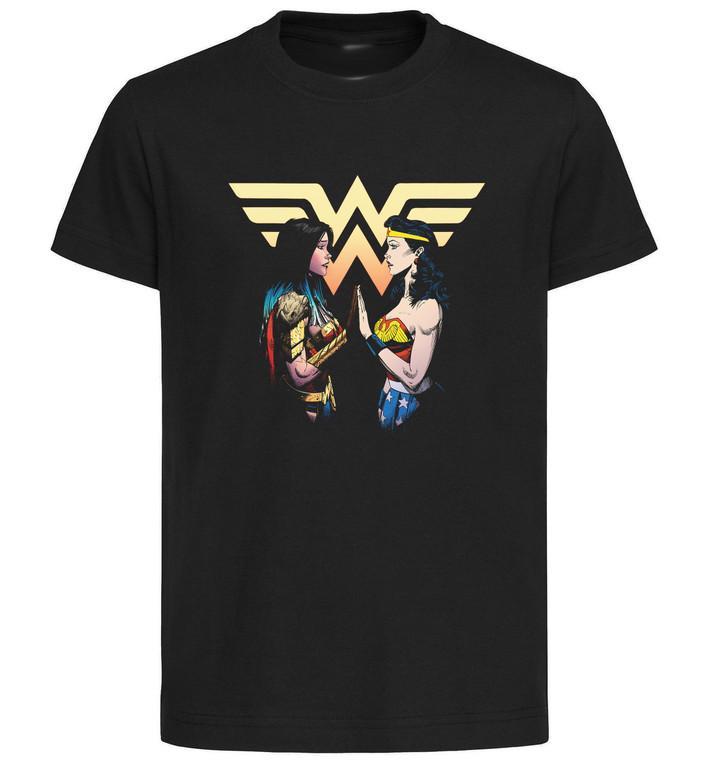 T-Shirt Black Grey - Dark Knight Death Metal - Wonder Woman