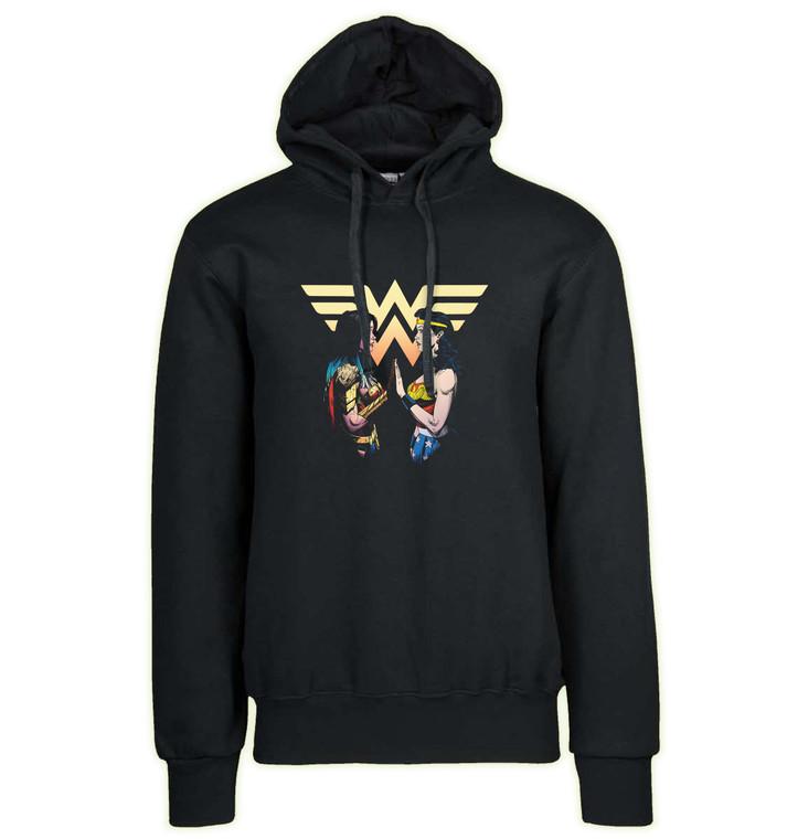 Hoodie Black Grey - Dark Knight Death Metal - Wonder Woman