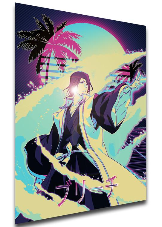 Poster Vaporwave 80s Style - Bleach - Byakuya Kuchiki - LL1827