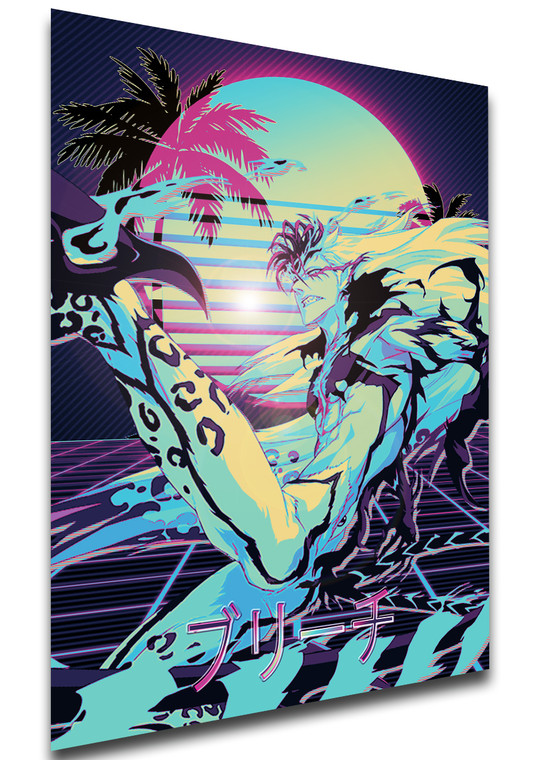 Poster Vaporwave 80s Style - Bleach - Grimmjow Jaegerjaquez - LL1832