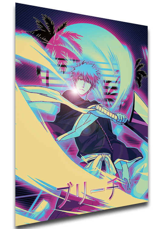 Poster Vaporwave 80s Style - Bleach - Ichigo Kurosaki - LL1825
