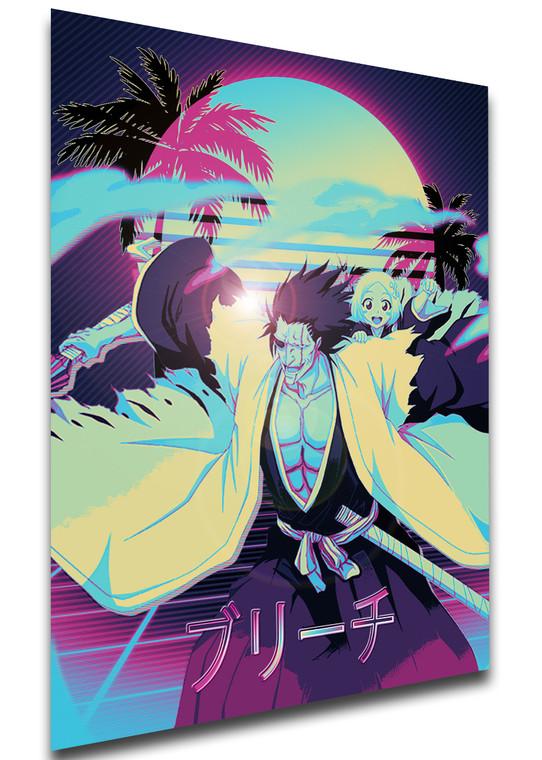 Poster Vaporwave 80s Style - Bleach - Kenpachi & Yachiru - LL1826