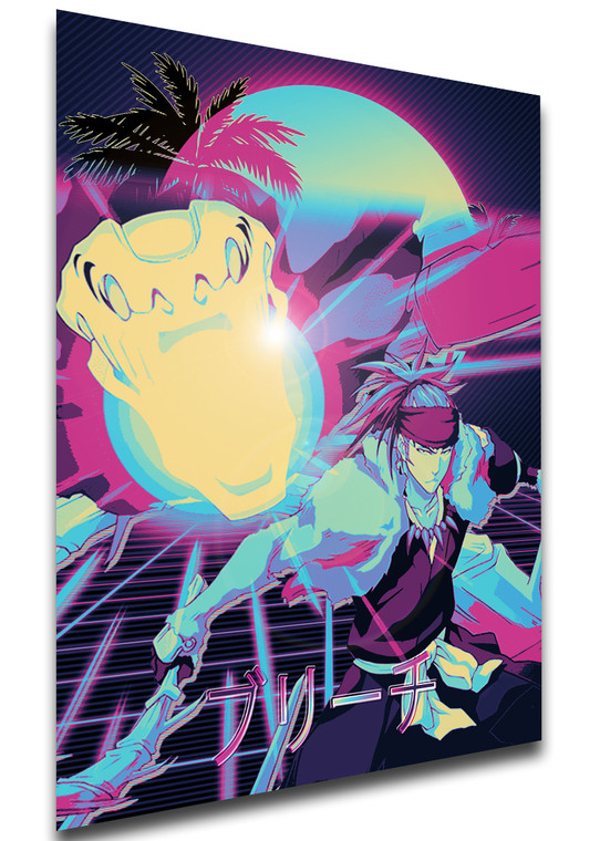 Poster Vaporwave 80s Style - Bleach - Renji Abarai - LL1828