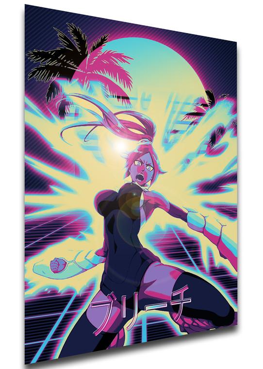 Poster Vaporwave 80s Style - Bleach - Yoruichi Shihoin - LL1829