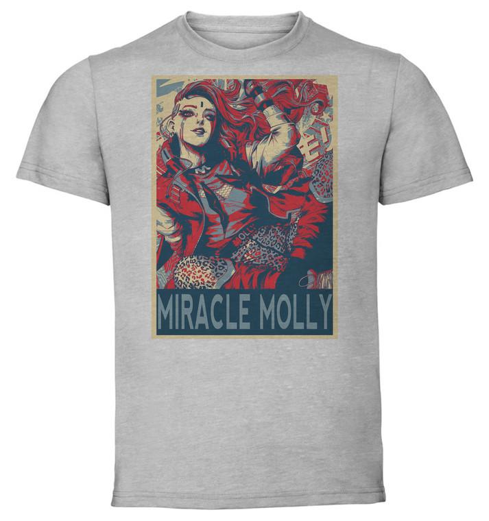 T-Shirt Unisex Grey Propaganda - DC Villains - Miracle Molly SA0746