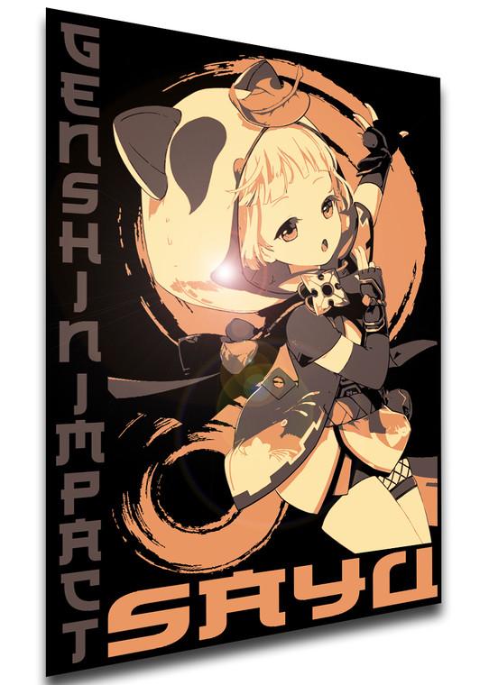 Poster Japanese Style - Genshin Impact - Sayu