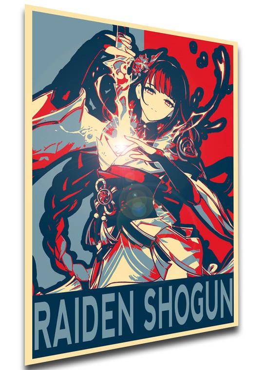 Poster Propaganda - Genshin Impact - Raiden Shogun SA0860